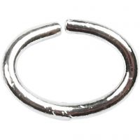 Ovala ringar, tjocklek 1 mm, försilvrad, 40 st./ 1 förp.