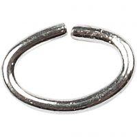 Ovala ringar, tjocklek 0,7 mm, försilvrad, 50 st./ 1 förp.