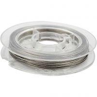 Smyckeswire, tjocklek 0,38 mm, silver, 10 m/ 1 rl.