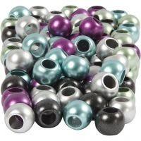 Kongomix, Dia. 10 mm, Hålstl. 4 mm, metallicfärger, 125 ml/ 1 förp., 60 g