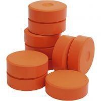 Temperablock, H: 19 mm, Dia. 57 mm, orange, 10 st./ 1 förp.