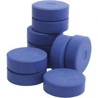Temperablock, H: 19 mm, Dia. 57 mm, blå, 10 st./ 1 förp.