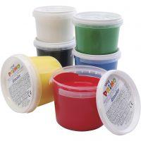 PRIMO fingerfärg, mixade färger, 6x100 ml/ 1 förp.