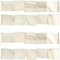 Pärlemorspärlor, Dia. 12 mm, Hålstl. 1 mm, pärlemor, 264 st./ 1 förp.