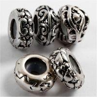 Metall links, Dia. 10 mm, Hålstl. 2 mm, försilvrad, 10 st./ 1 förp.