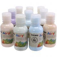 PRIMO lyxakrylfärg, pastellfärger, 10x125 ml/ 1 förp.