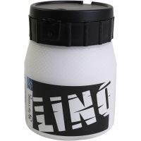 Linoleumsfärg, vit, 250 ml/ 1 flaska