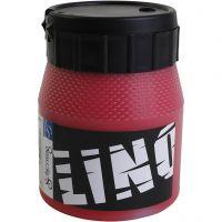 Linoleumsfärg, röd, 250 ml/ 1 flaska