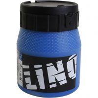 Linoleumsfärg, blå, 250 ml/ 1 flaska