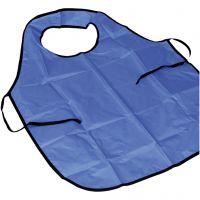 Förkläde med krage, L: 70 cm, stl. 8+ år, blå, 1 st.