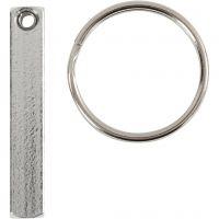 Nyckelringskit, stl. 40x5 mm, 6 st./ 1 förp.