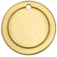 Tag, Ring, Dia. 20 mm, Hålstl. 1,85 mm, tjocklek 1 mm, mässing, 6 st./ 1 förp.