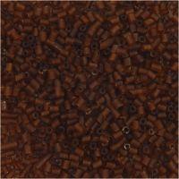 2-cut, Dia. 1,7 mm, stl. 15/0 , Hålstl. 0,5 mm, brun, 25 g/ 1 förp.