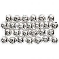 Vaxpärlor, Dia. 8 mm, Hålstl. 1 mm, silver, 50 st./ 1 förp.