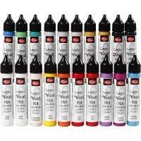 Ljusvax i målarflaskor, mixade färger, 20x28 ml/ 1 förp.