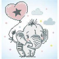 Diamond Dotz, Baby elefant, stl. 28x35,5 cm, 1 förp.