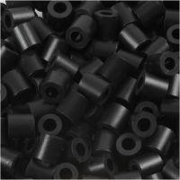 Rörpärlor, stl. 5x5 mm, Hålstl. 2,5 mm, medium, sort (32220), 1100 st./ 1 förp.
