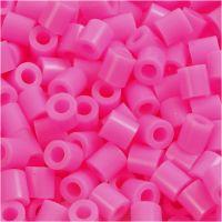 Rörpärlor, stl. 5x5 mm, Hålstl. 2,5 mm, medium, rosa (32222), 6000 st./ 1 förp.
