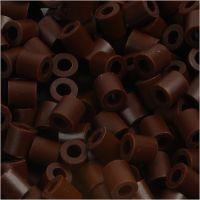 Rörpärlor, stl. 5x5 mm, Hålstl. 2,5 mm, medium, brun (32229), 1100 st./ 1 förp.