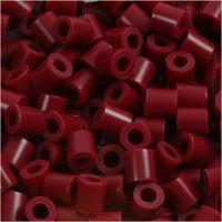 Rörpärlor, stl. 5x5 mm, Hålstl. 2,5 mm, medium, vinröd (32239), 1100 st./ 1 förp.