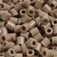 Rörpärlor, stl. 5x5 mm, Hålstl. 2,5 mm, medium, beige (32248), 1100 st./ 1 förp.