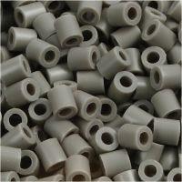 Rörpärlor, stl. 5x5 mm, Hålstl. 2,5 mm, medium, askgrå (32226), 6000 st./ 1 förp.