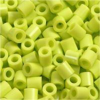 Rörpärlor, stl. 5x5 mm, Hålstl. 2,5 mm, medium, lime (32241), 6000 st./ 1 förp.