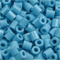 Rörpärlor, stl. 5x5 mm, Hålstl. 2,5 mm, medium, turkos (32256), 1100 st./ 1 förp.