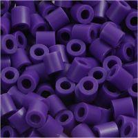 Rörpärlor, stl. 5x5 mm, Hålstl. 2,5 mm, medium, mörklila (32234), 1100 st./ 1 förp.