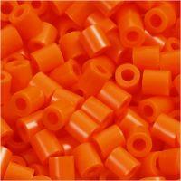 Rörpärlor, stl. 5x5 mm, Hålstl. 2,5 mm, medium, orange klar (32233), 1100 st./ 1 förp.