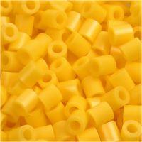 Rörpärlor, stl. 5x5 mm, Hålstl. 2,5 mm, medium, gul (32227), 6000 st./ 1 förp.