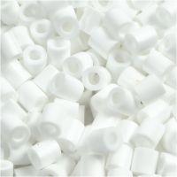 Rörpärlor, stl. 5x5 mm, Hålstl. 2,5 mm, medium, vit (32221), 6000 st./ 1 förp.