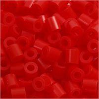 Rörpärlor, stl. 5x5 mm, Hålstl. 2,5 mm, medium, ljusröd (32225), 1100 st./ 1 förp.