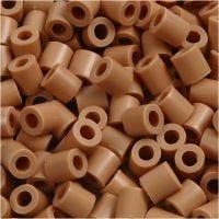 Rörpärlor, stl. 5x5 mm, Hålstl. 2,5 mm, medium, ljusbrun (32260), 6000 st./ 1 förp.