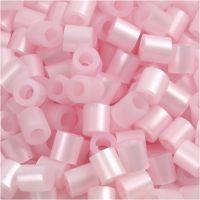 Rörpärlor, stl. 5x5 mm, Hålstl. 2,5 mm, medium, rosa pärlemor (32259), 1100 st./ 1 förp.