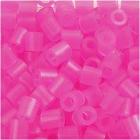 Rörpärlor, stl. 5x5 mm, Hålstl. 2,5 mm, medium, rosa neon (32257), 6000 st./ 1 förp.