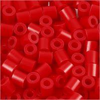 Rörpärlor, stl. 5x5 mm, Hålstl. 2,5 mm, medium, röd (32231), 1100 st./ 1 förp.