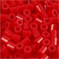 Rörpärlor, stl. 5x5 mm, Hålstl. 2,5 mm, medium, röd (32231), 6000 st./ 1 förp.