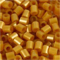Rörpärlor, stl. 5x5 mm, Hålstl. 2,5 mm, medium, guld (32263), 6000 st./ 1 förp.