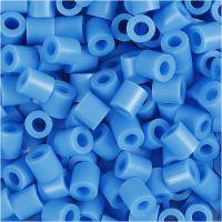 Rörpärlor, stl. 5x5 mm, Hålstl. 2,5 mm, medium, blå (32238), 1100 st./ 1 förp.