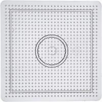 Stiftplatta, stl. 14,5x14,5 cm, transparent, 1 st.
