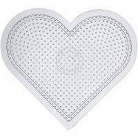 Stiftplatta, stora hjärtan, H: 15 cm, transparent, 10 st./ 1 förp.