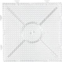 Stiftplatta, Stor byggbar kvadrat, stl. 15x15 cm, transparent, 1 st.