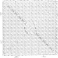 Pärlplattor, stor ihopsättningsbar kvadrat, stl. 15x15 cm, JUMBO, transparent, 1 st.