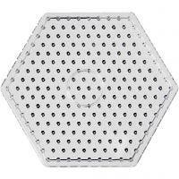 Pärlplattor, hexagon, JUMBO, transparent, 5 st./ 1 förp.