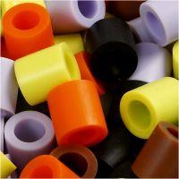 Rörpärlor, stl. 10x10 mm, Hålstl. 5,5 mm, JUMBO, höst mix, 3200 mix./ 1 förp.