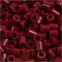 Photo Pearls, stl. 5x5 mm, Hålstl. 2,5 mm, vinröd (4), 1100 st./ 1 förp.