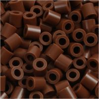 Photo Pearls, stl. 5x5 mm, Hålstl. 2,5 mm, chocolate (27), 6000 st./ 1 förp.