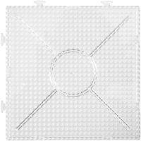 Pärlplattor, stl. 15x15 cm, transparent, 2 st./ 1 förp.