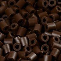 Photo Pearls, stl. 5x5 mm, Hålstl. 2,5 mm, mörkbrun (2), 1100 st./ 1 förp.